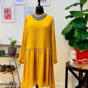 Karen By Simonsen | Yellow Empire Waist Dot Dress